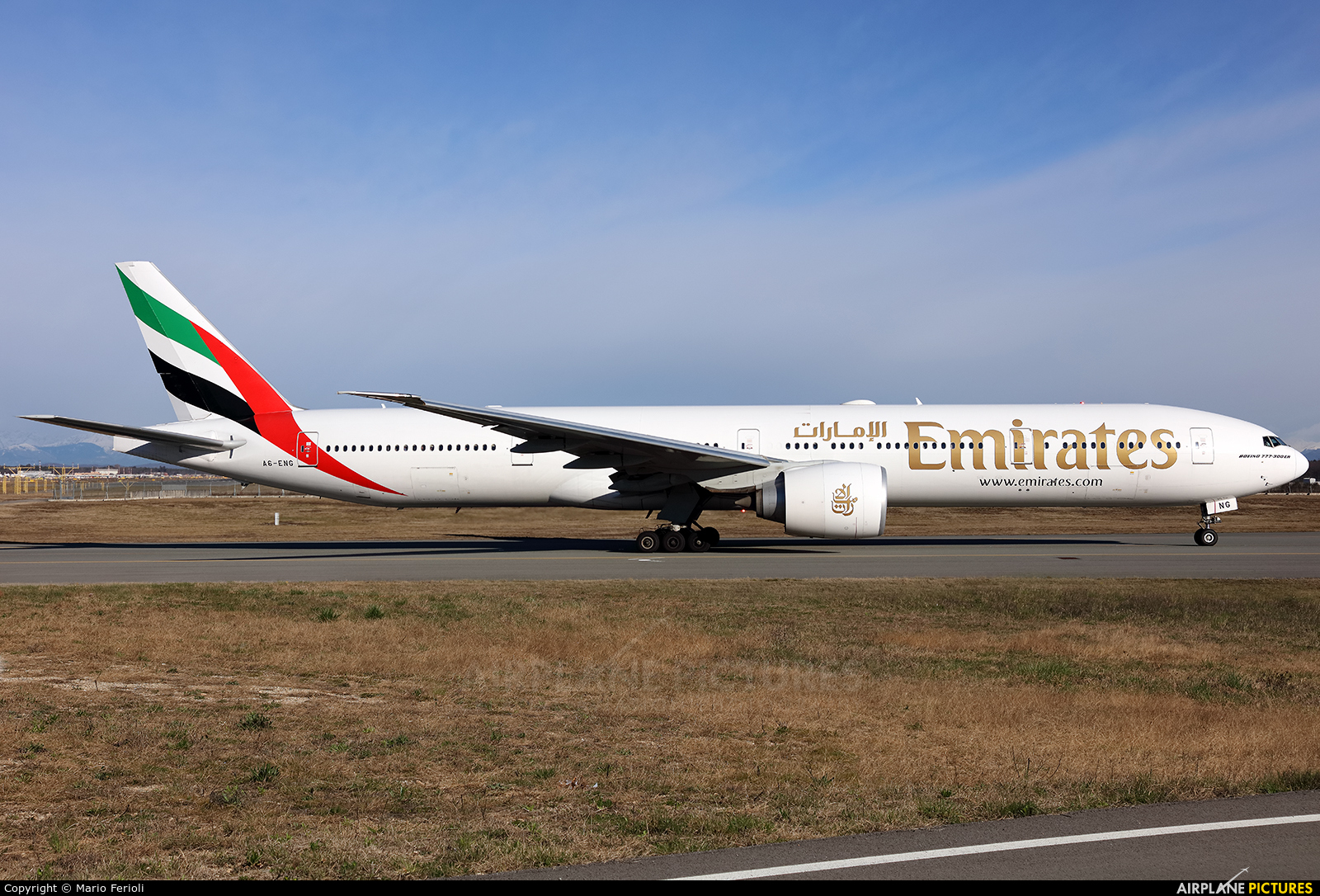 Emirates Airlines A6-ENG aircraft at Milan - Malpensa
