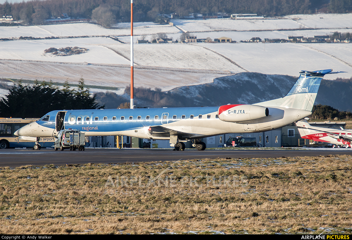 BMI Regional G-RJXA aircraft at Inverness