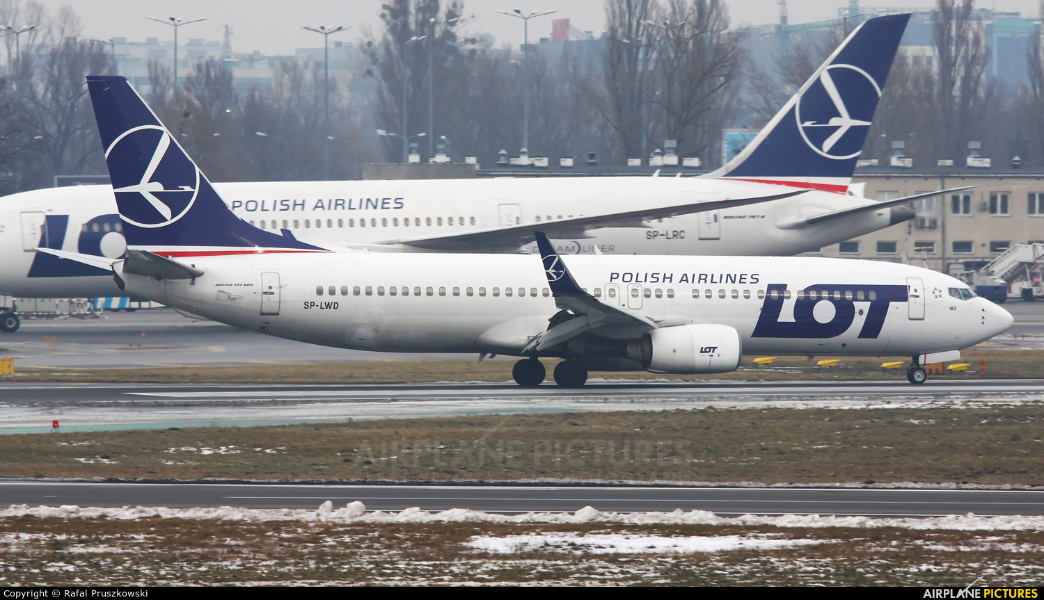 LOT - Polish Airlines SP-LWD aircraft at Warsaw - Frederic Chopin