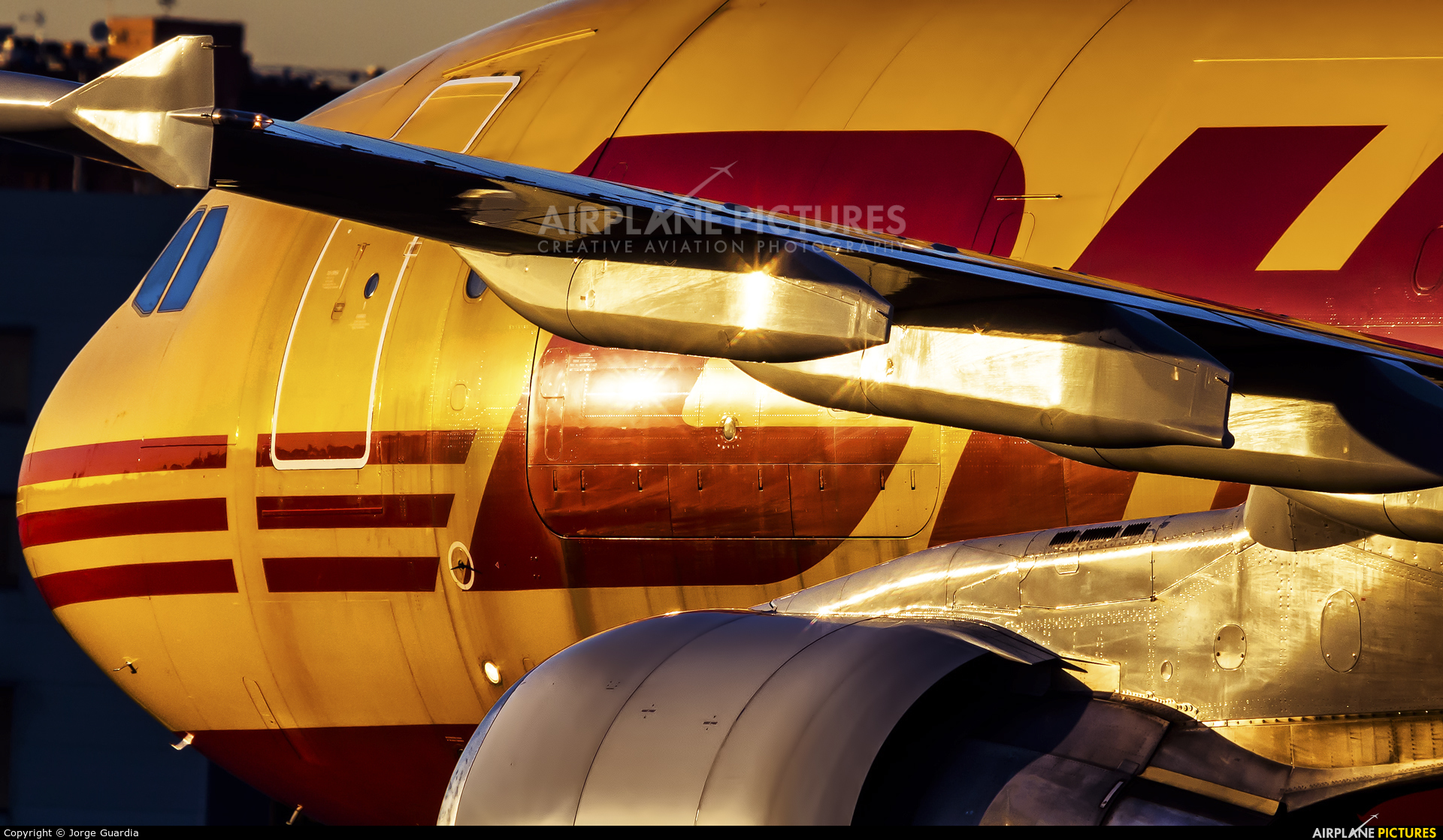 DHL Cargo D-AEAF aircraft at Madrid - Barajas