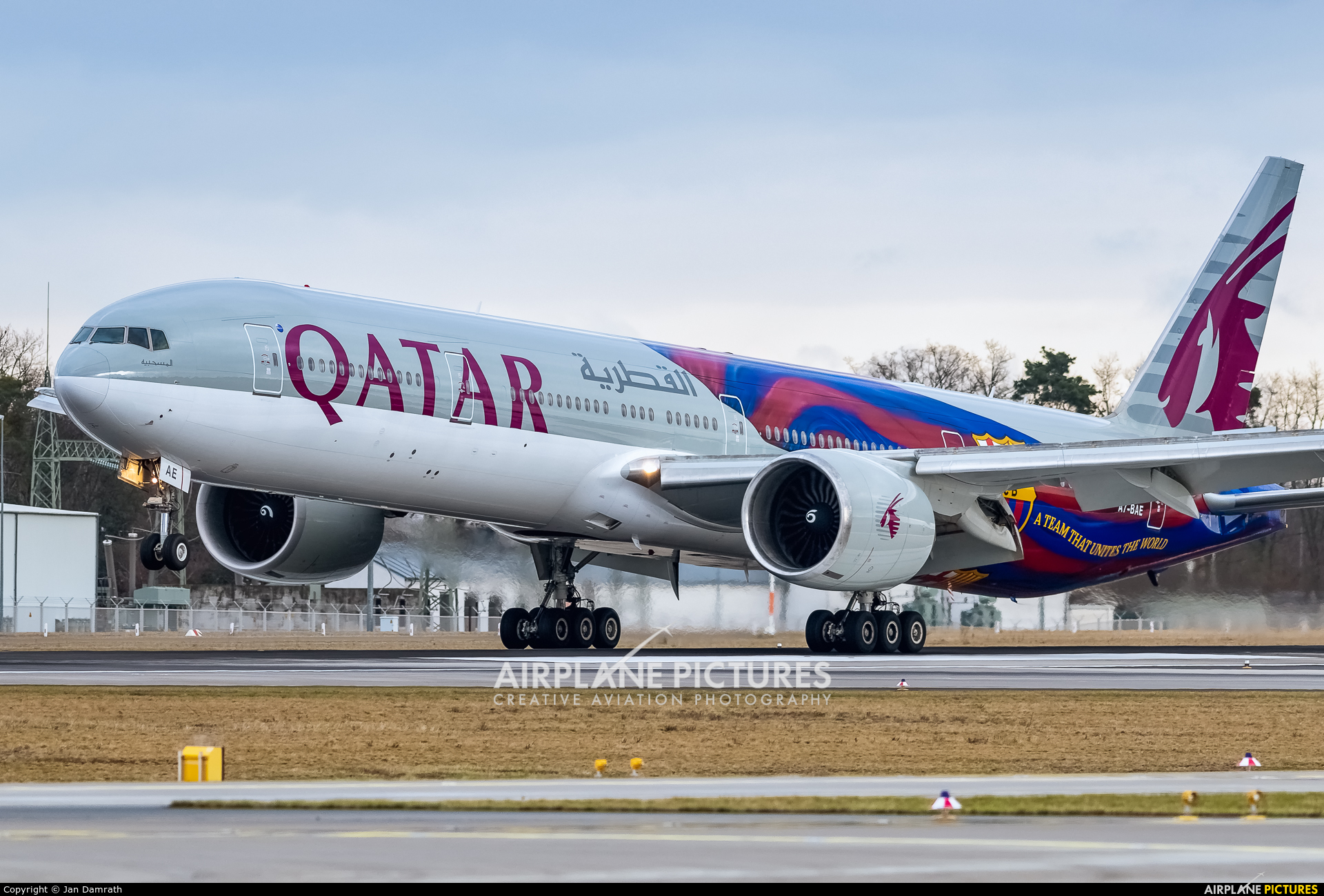 Qatar Airways A7-BAE aircraft at Frankfurt
