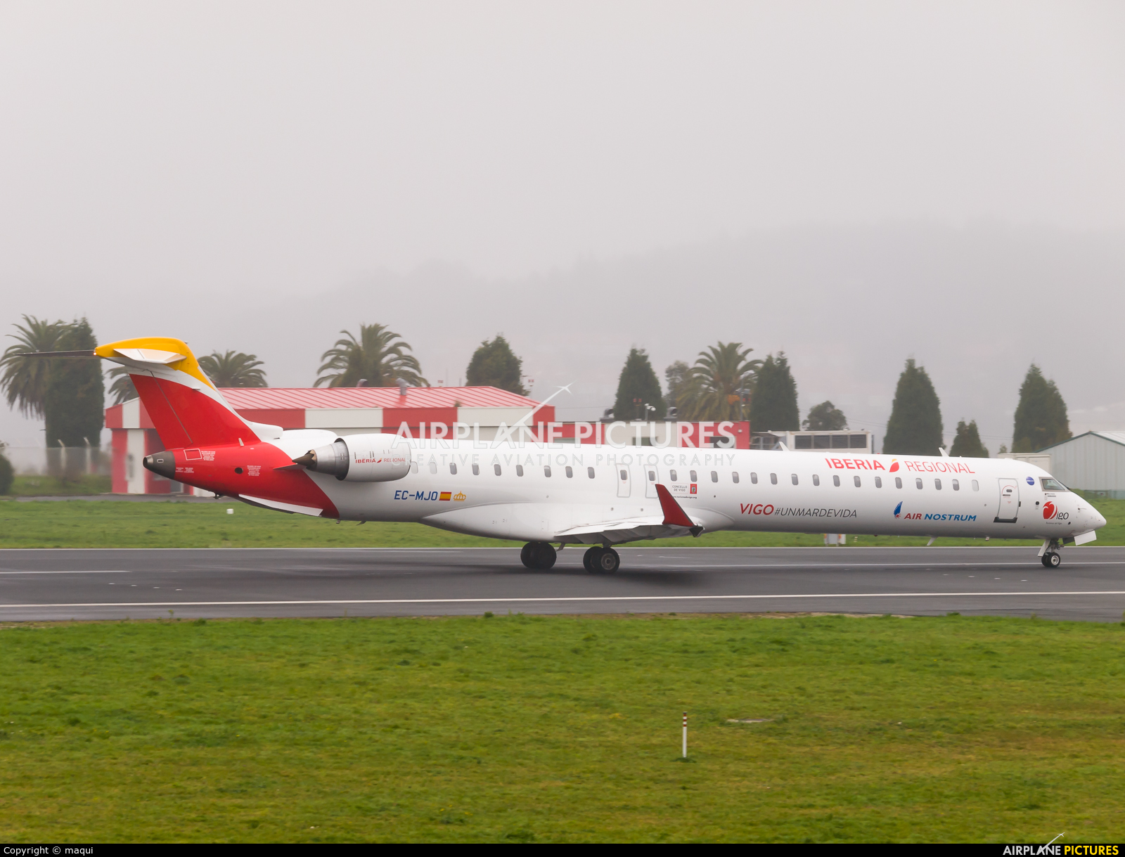 Air Nostrum - Iberia Regional EC-MJO aircraft at La Coruña