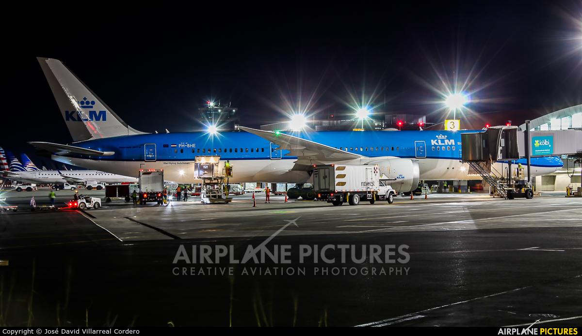 KLM PH-BHE aircraft at San Jose - Juan Santamaría Intl