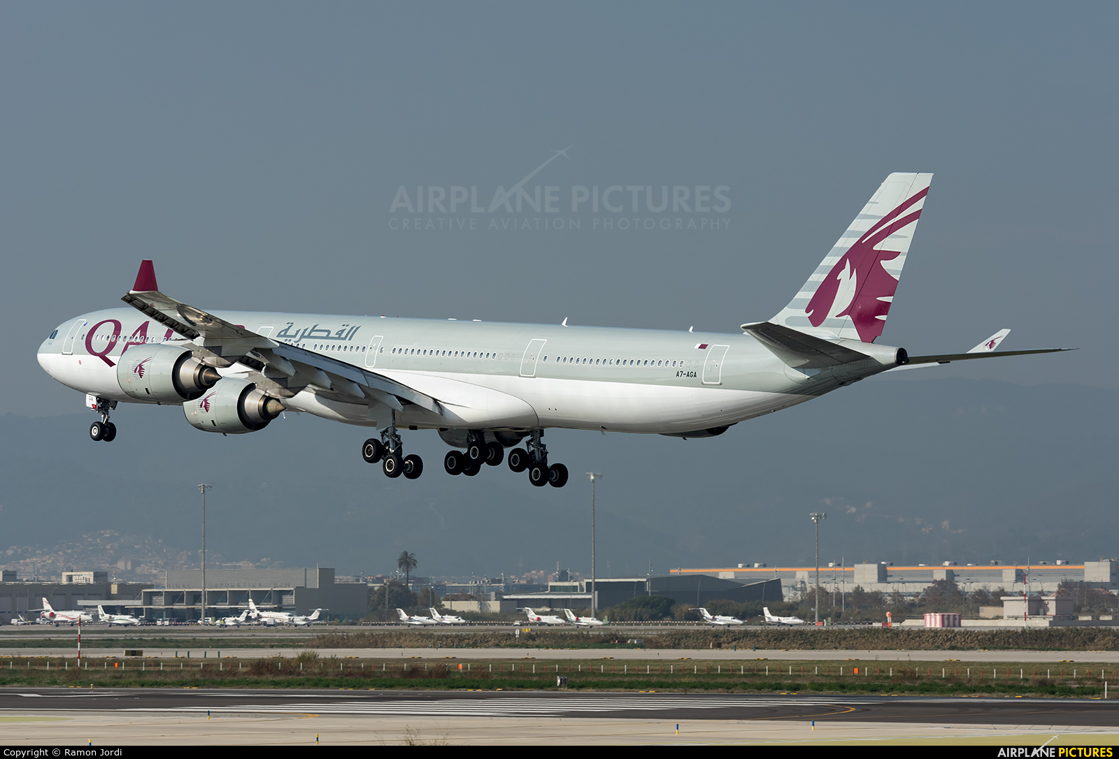 Qatar Airways A7-AGA aircraft at Barcelona - El Prat