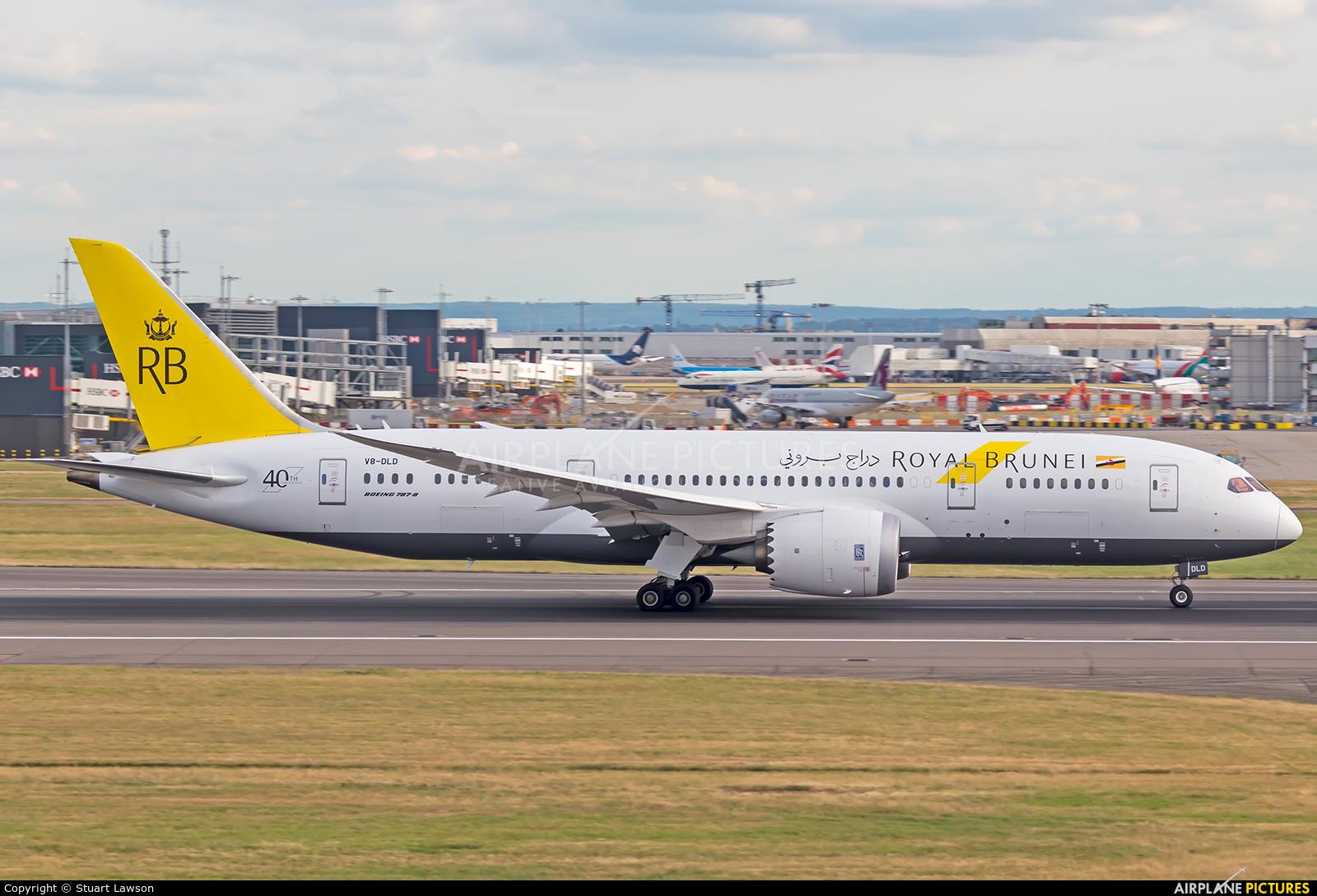 Royal Brunei Airlines V8-DLD aircraft at London - Heathrow