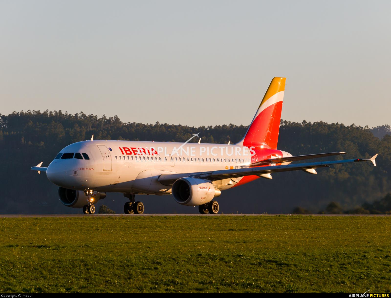 Iberia EC-JXJ aircraft at La Coruña