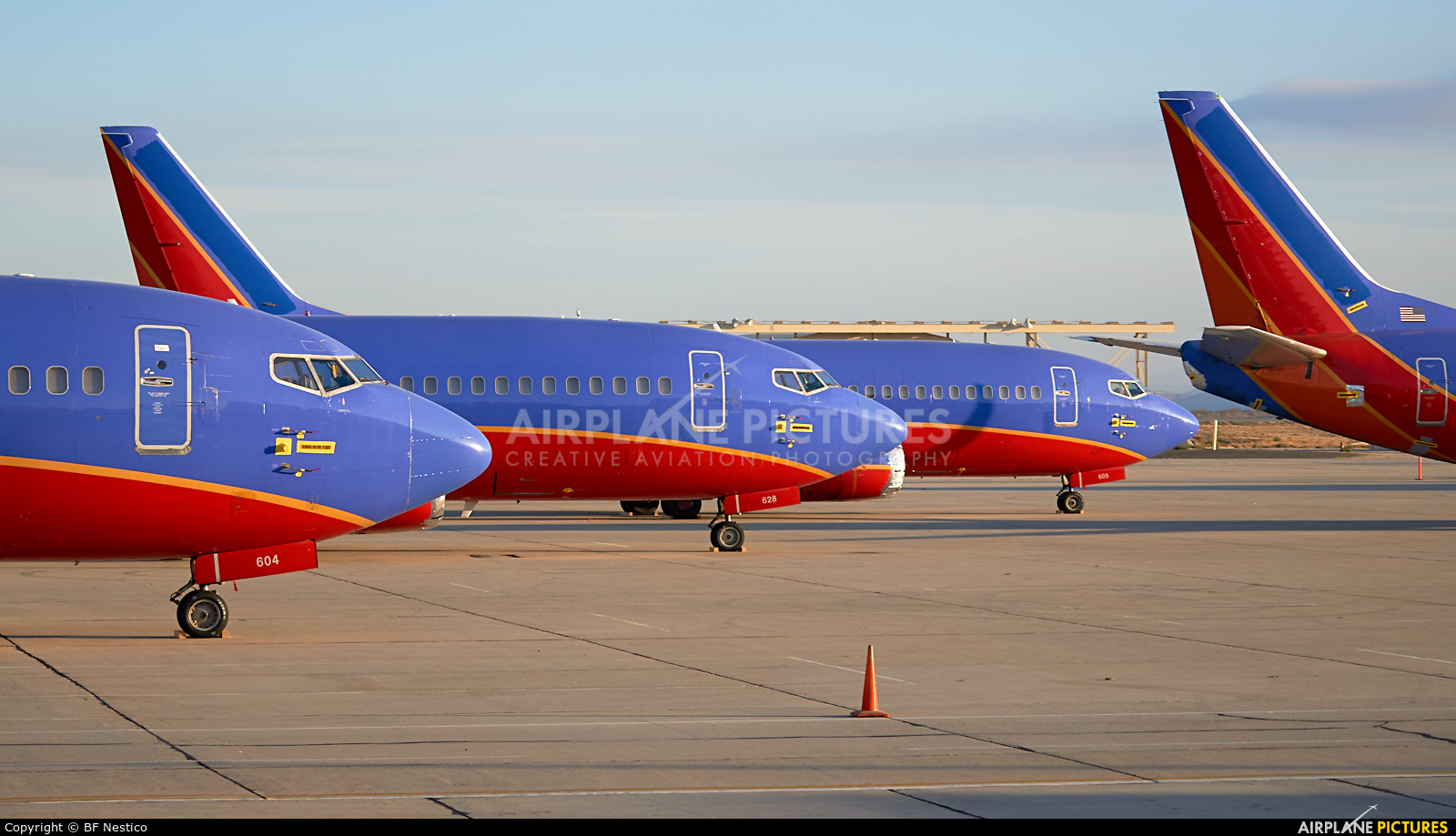 Southwest Airlines - aircraft at Victorville - Southern California Logistics
