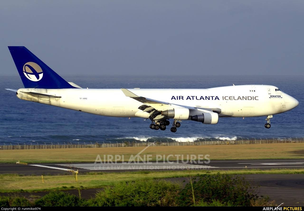 Air Atlanta Icelandic TF-AMQ aircraft at Roland Garros - Saint-Denis