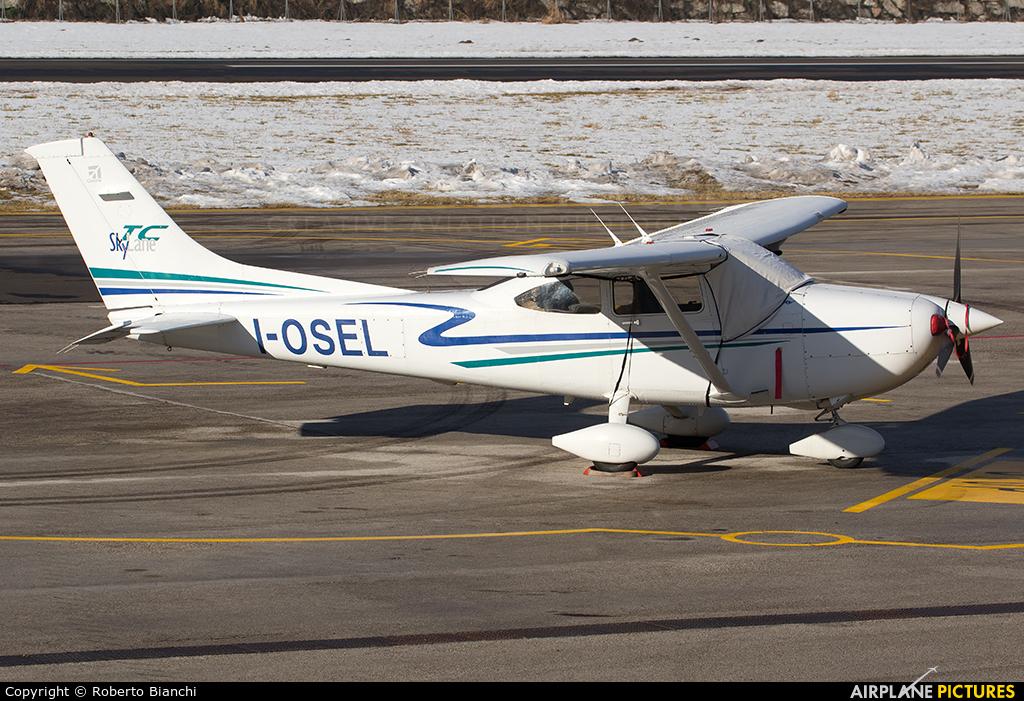 Private I-OSEL aircraft at Trento - Mattarello