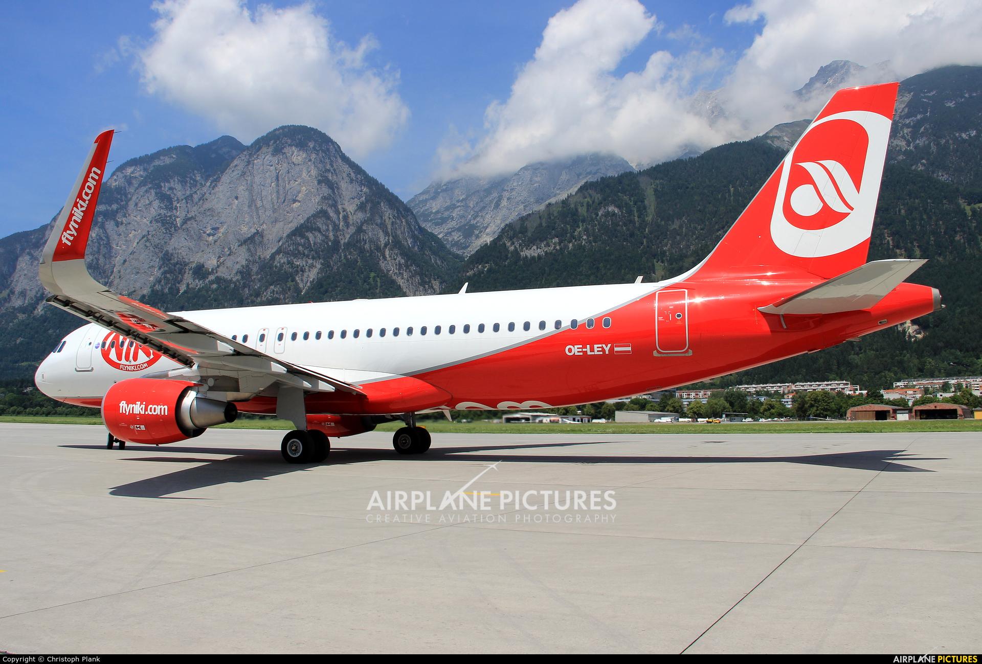 Niki OE-LEY aircraft at Innsbruck