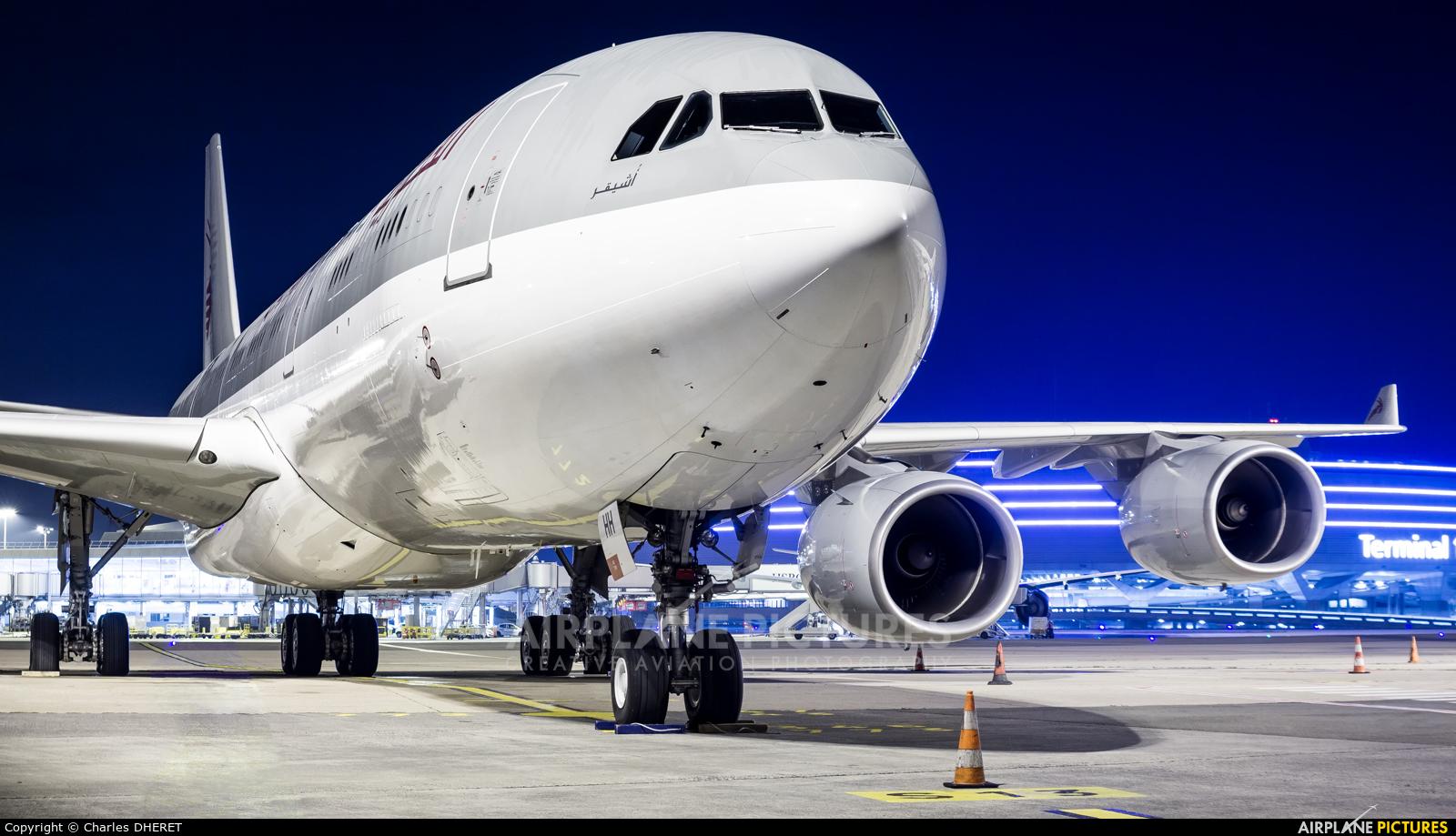 Qatar Amiri Flight A7-HHH aircraft at Paris - Charles de Gaulle