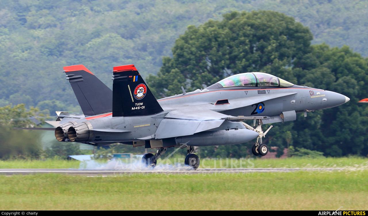 Malaysia - Air Force M45-01 aircraft at Subang - Sultan Abdul Aziz Shah