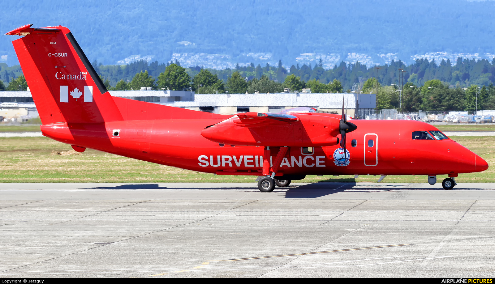 Canada - Dept of Transport C-GSUR aircraft at Vancouver Intl, BC
