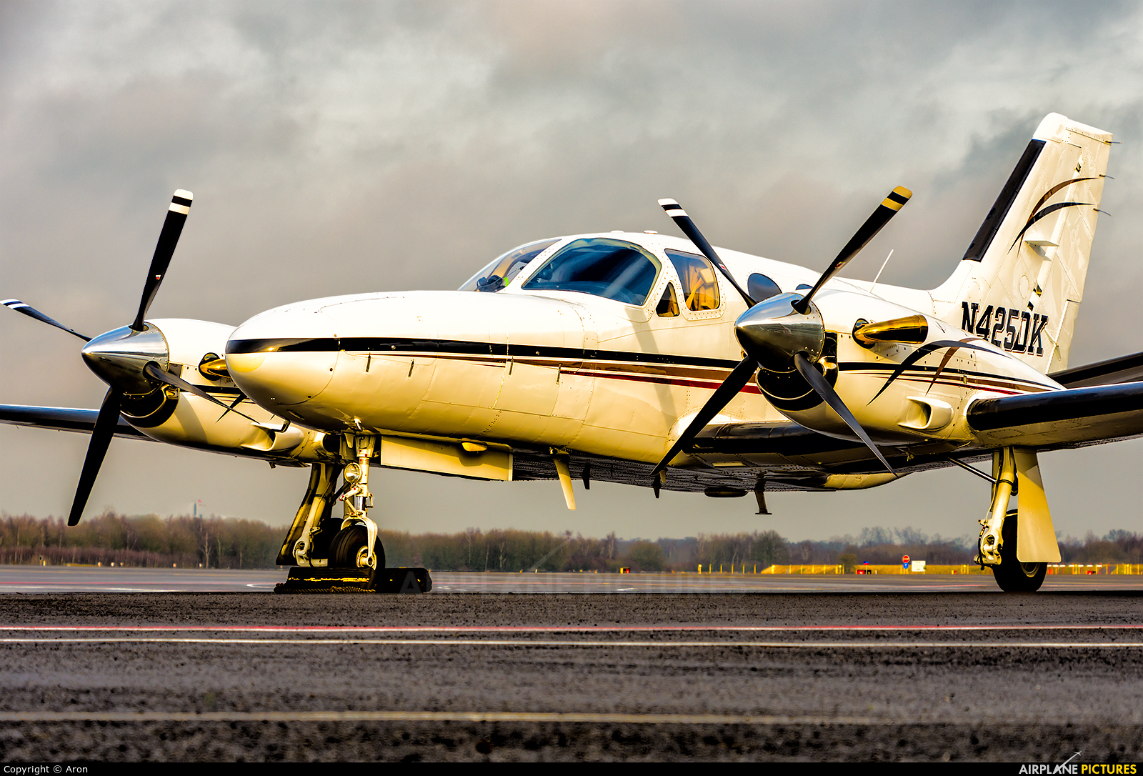 Private N425DK aircraft at Eindhoven