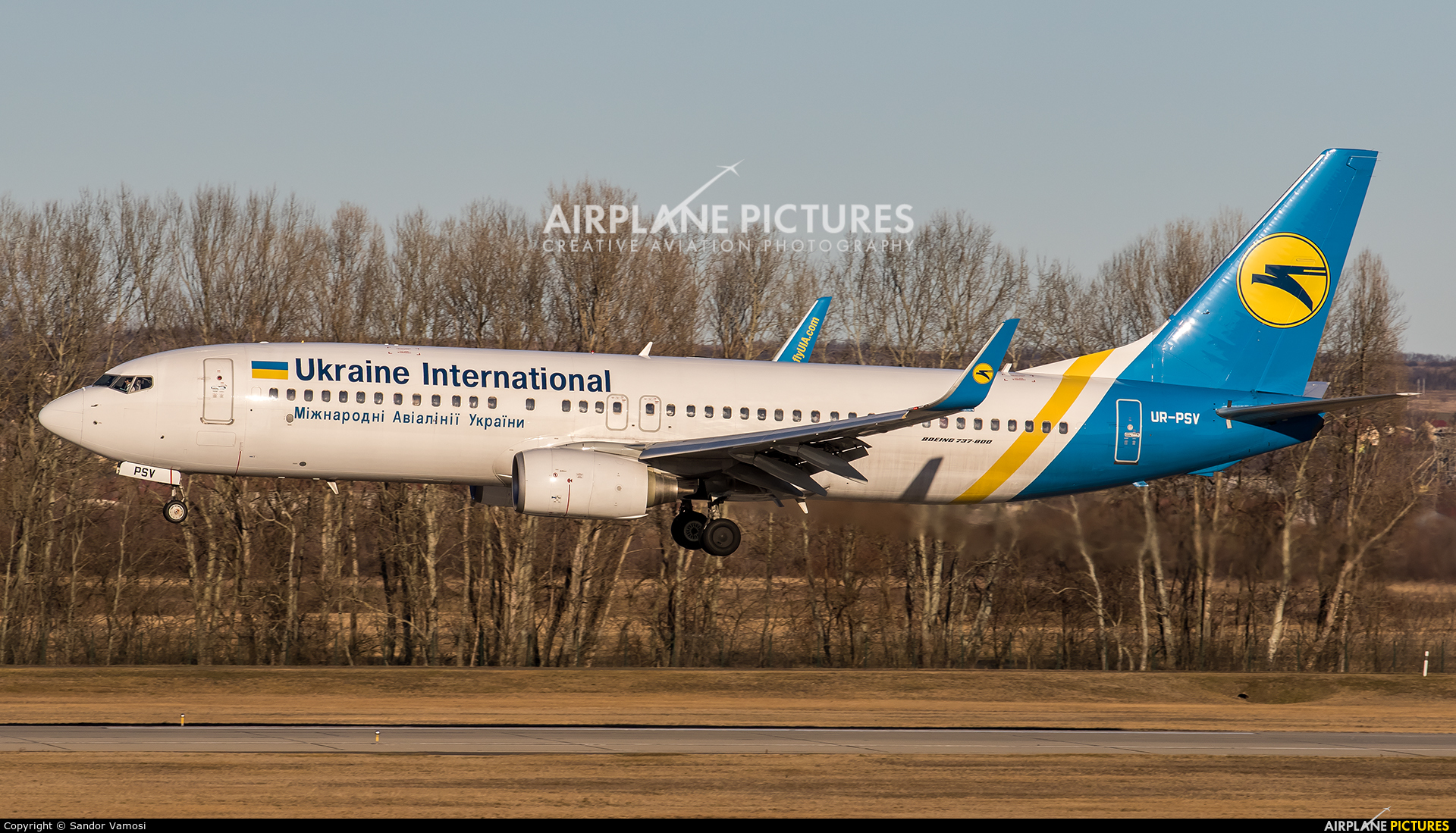 Ukraine International Airlines UR-PSV aircraft at Budapest Ferenc Liszt International Airport