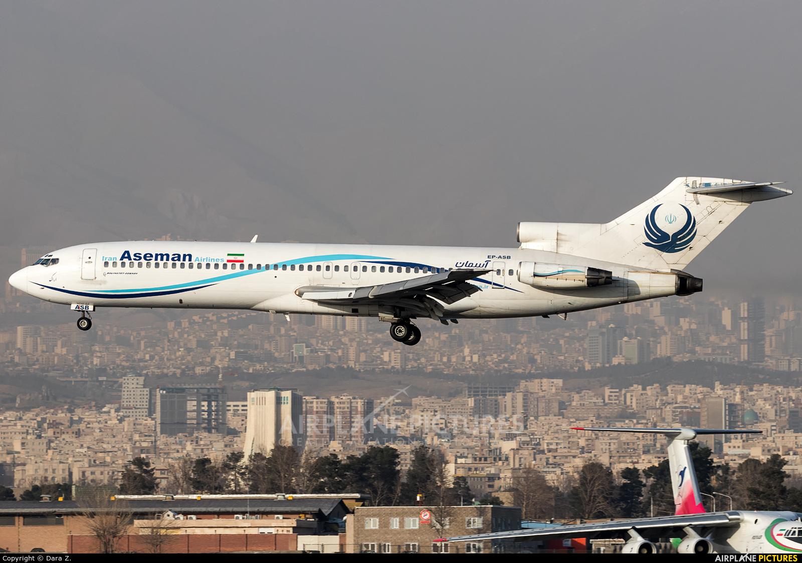 Iran Aseman EP-ASB aircraft at Tehran - Mehrabad Intl