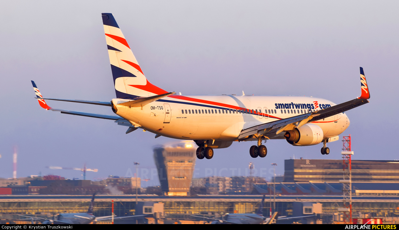 SmartWings OM-TSG aircraft at Warsaw - Frederic Chopin