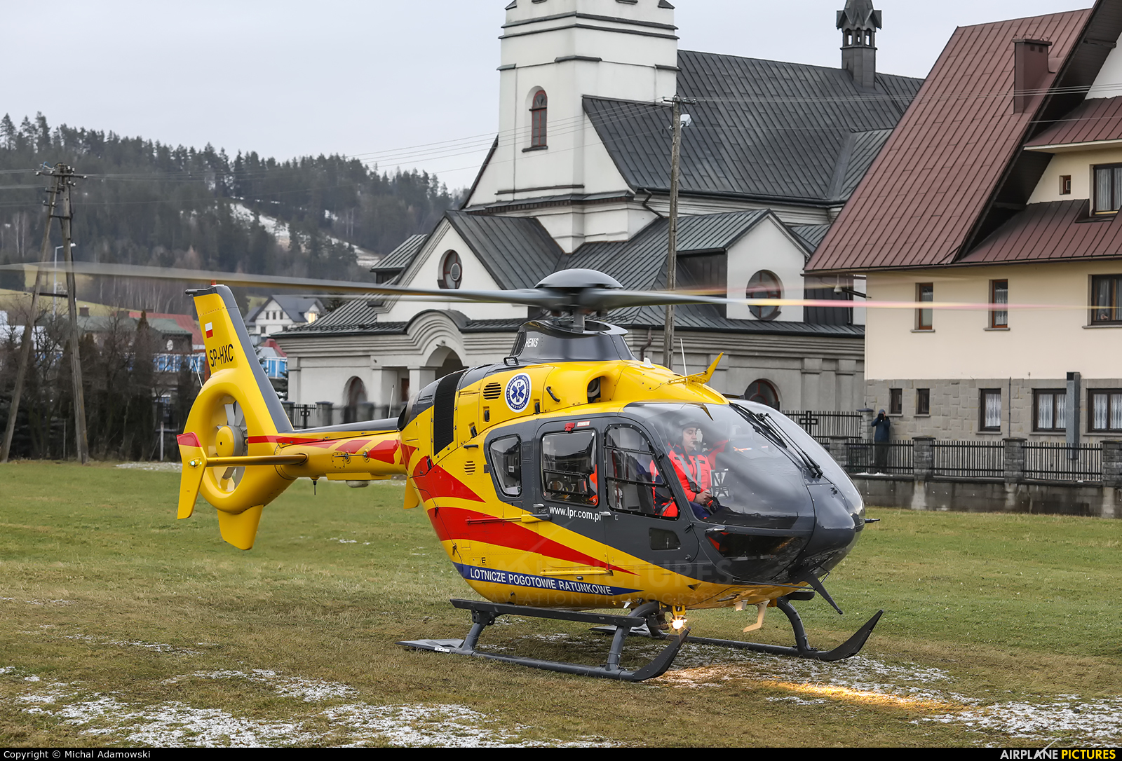 Polish Medical Air Rescue - Lotnicze Pogotowie Ratunkowe SP-HXC aircraft at Off Airport - Poland