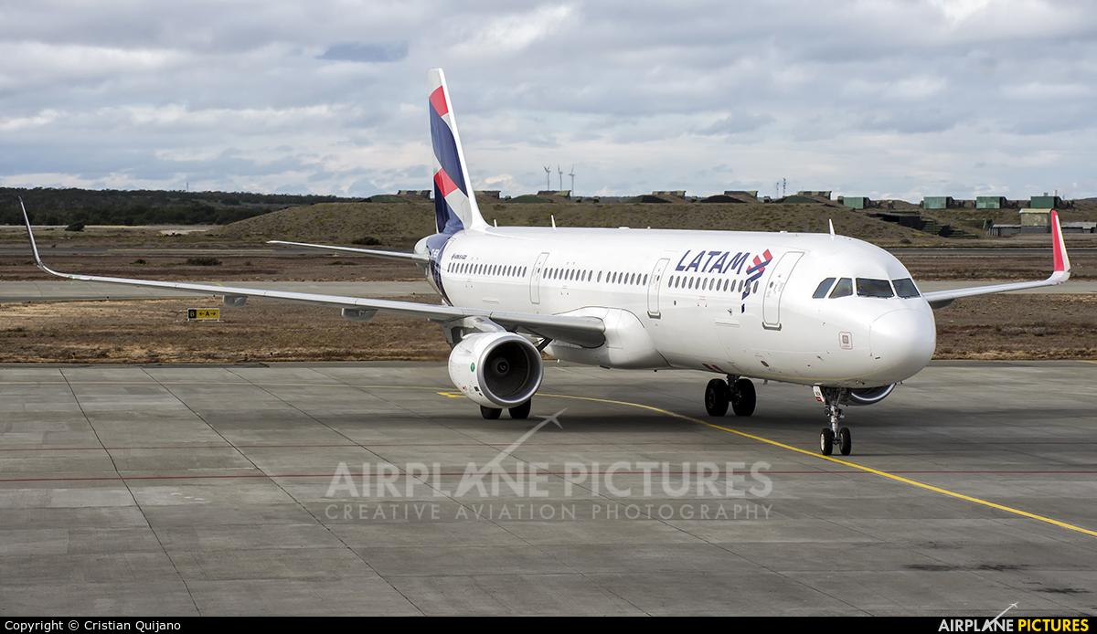 LATAM CC-BEN aircraft at Punta Arenas - Presidente C.I. Del Campo Intl