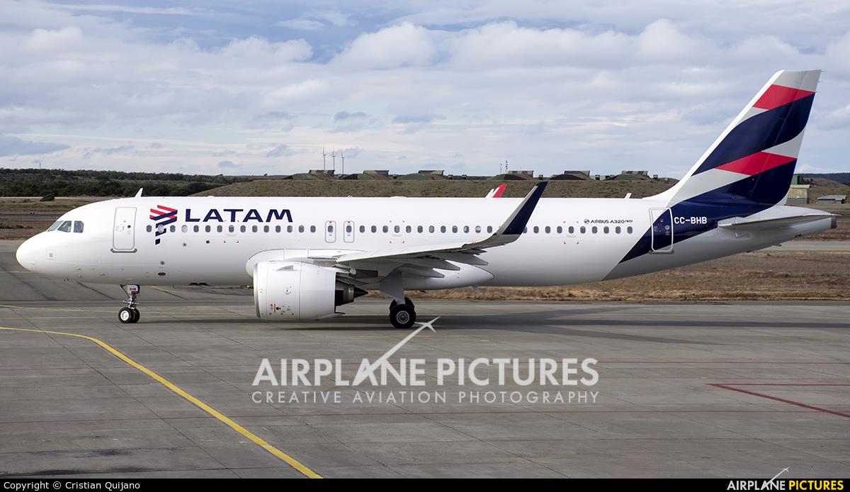 LATAM CC-BHB aircraft at Punta Arenas - Presidente C.I. Del Campo Intl