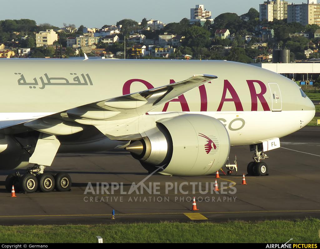 Qatar Airways Cargo A7-BFL aircraft at Porto Alegre - Salgado Filho