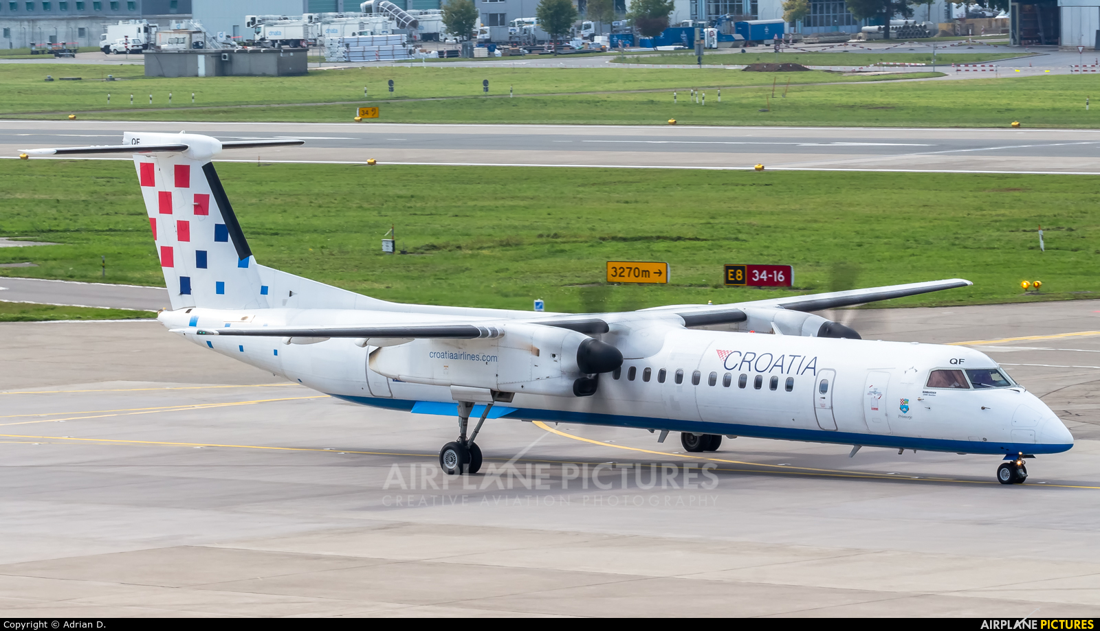 Croatia Airlines 9A-CQF aircraft at Zurich