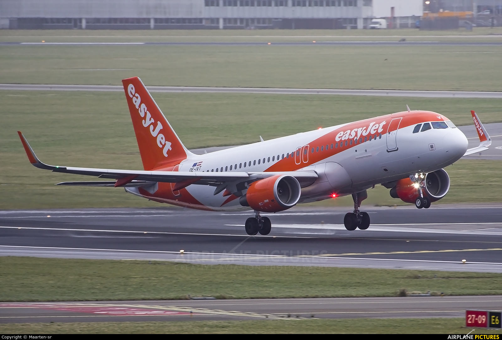 easyJet Europe OE-IVT aircraft at Amsterdam - Schiphol