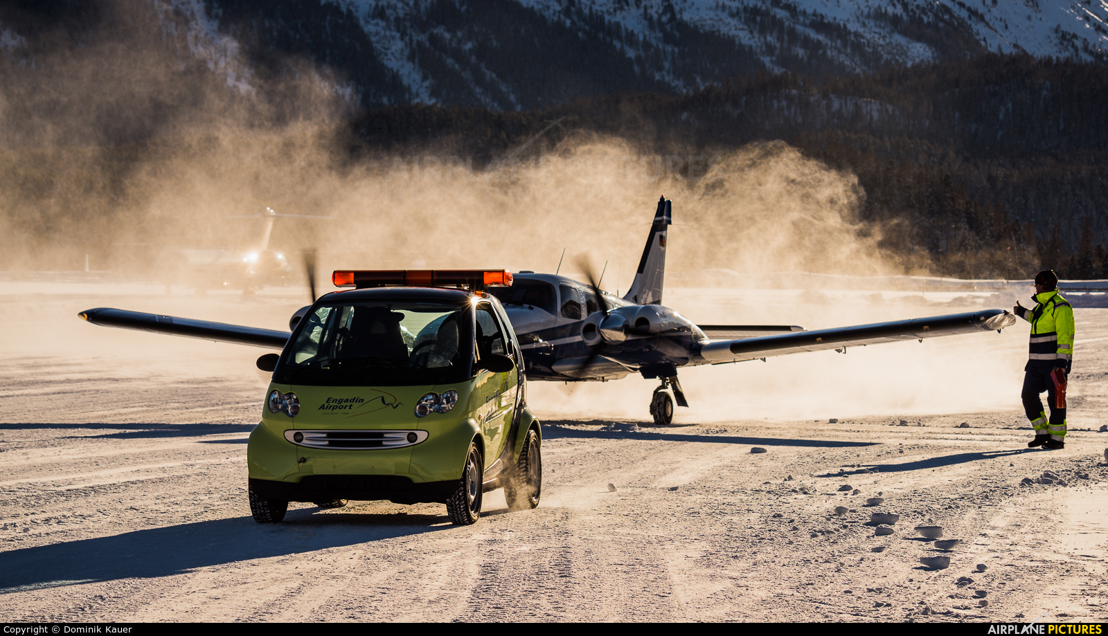 Private D-GWIT aircraft at Samedan - Engadin