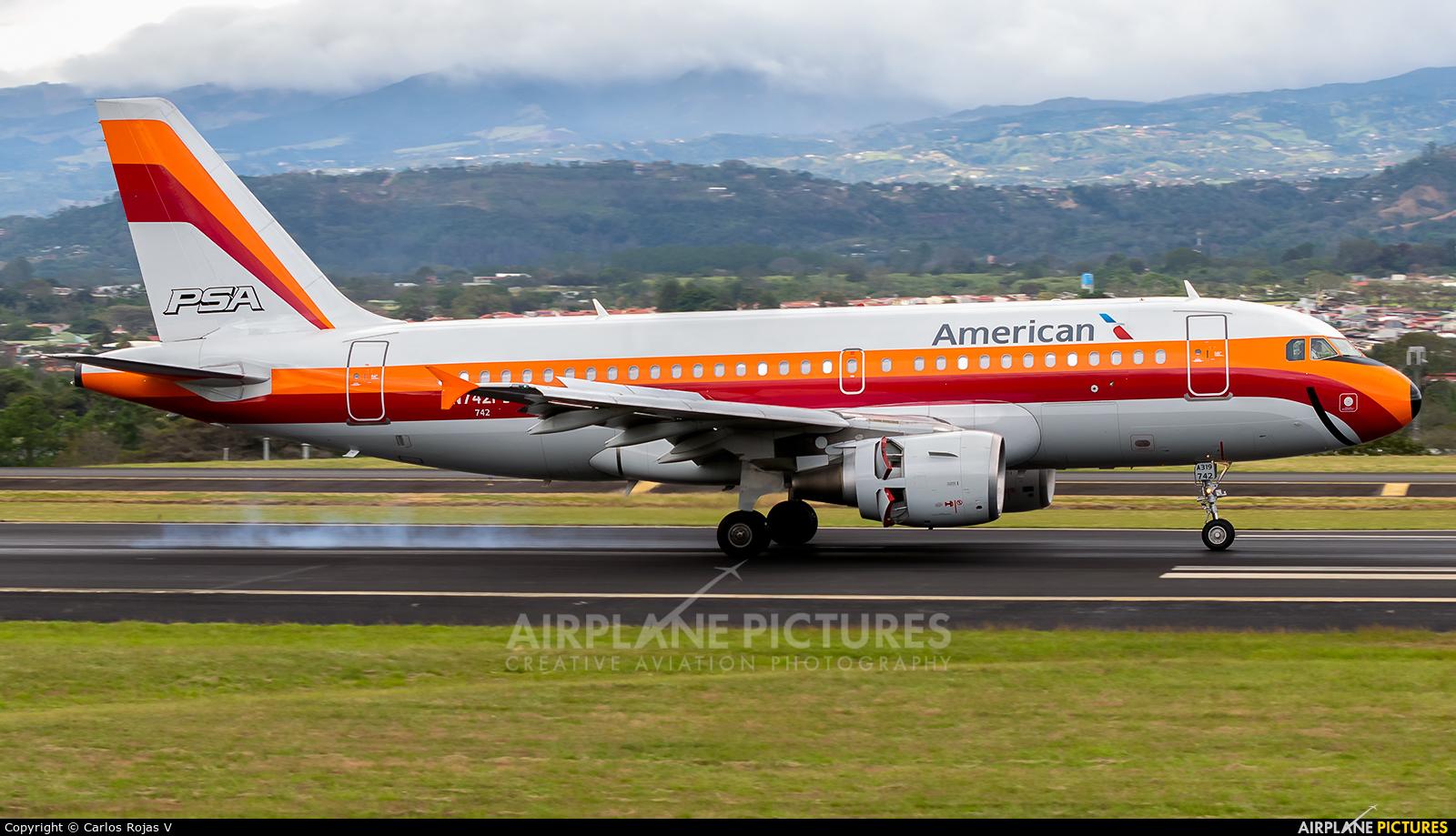 American Airlines N742PS aircraft at San Jose - Juan Santamaría Intl
