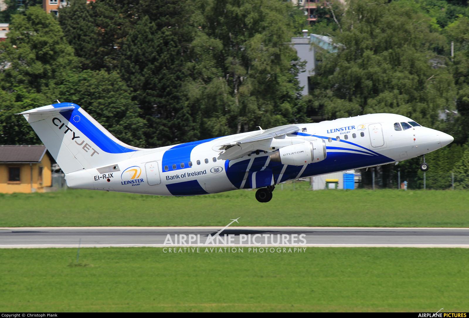 CityJet EI-RJX aircraft at Innsbruck