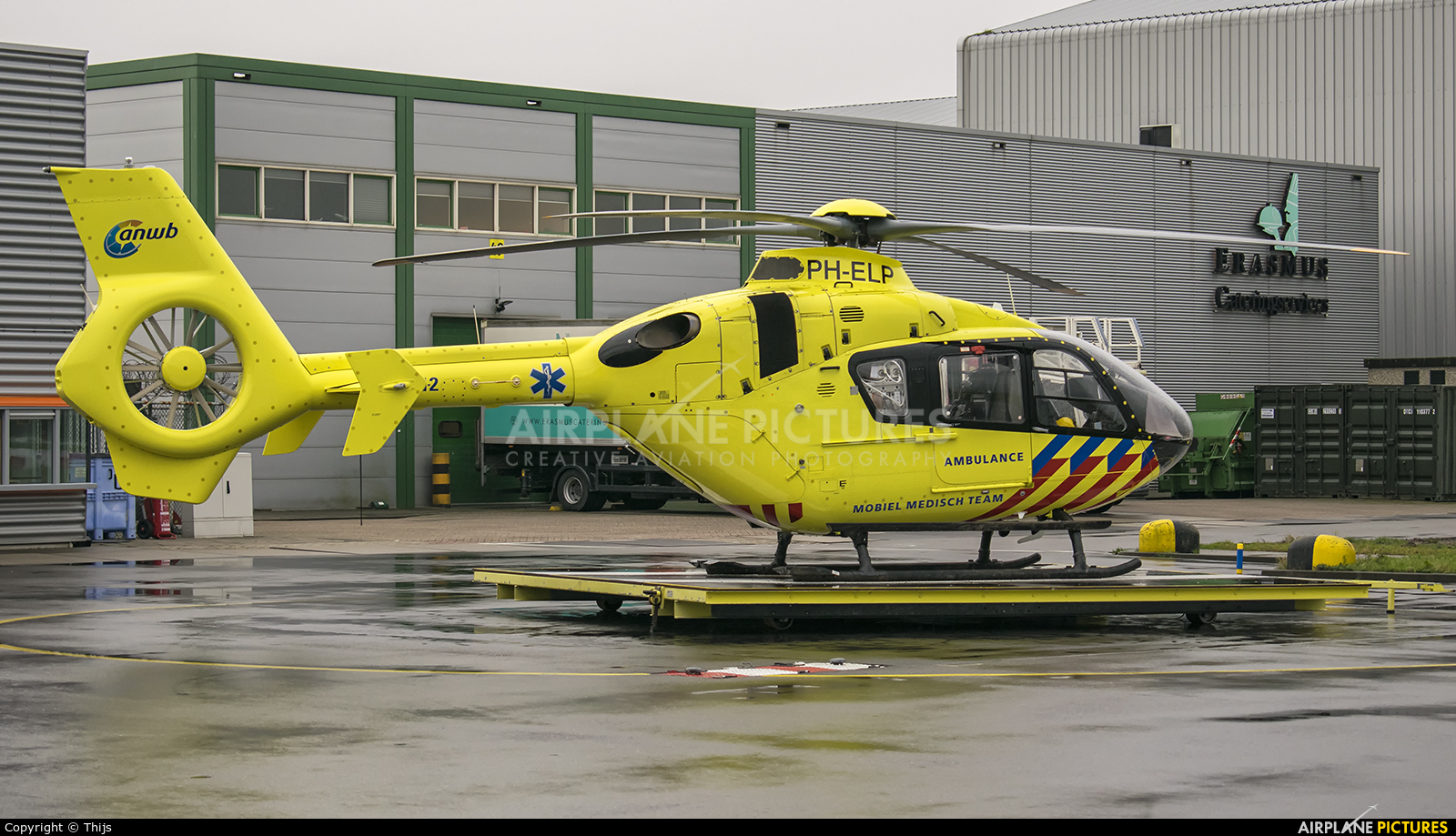 ANWB Medical Air Assistance PH-ELP aircraft at Rotterdam