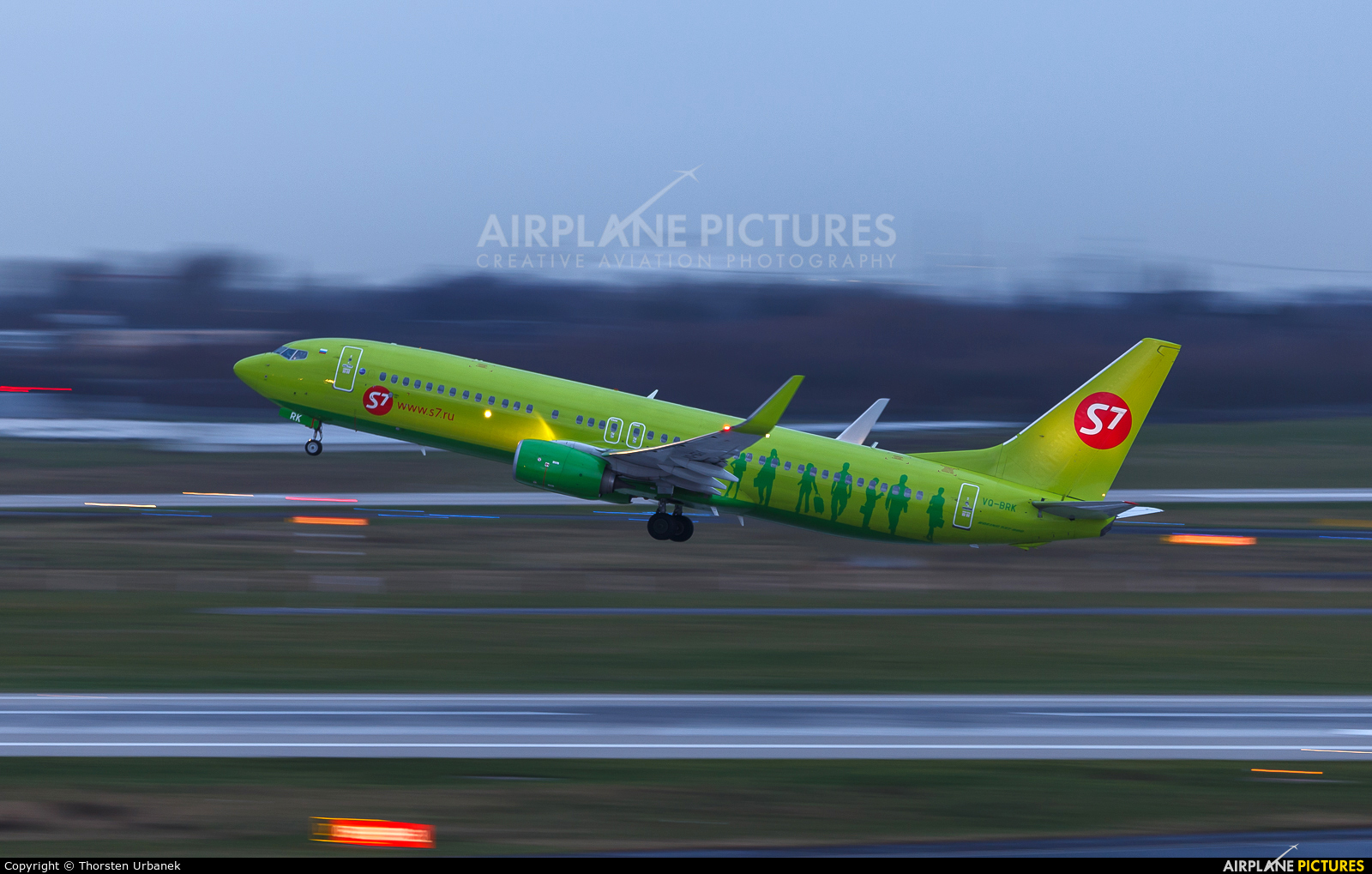 S7 Airlines VQ-BRK aircraft at Düsseldorf