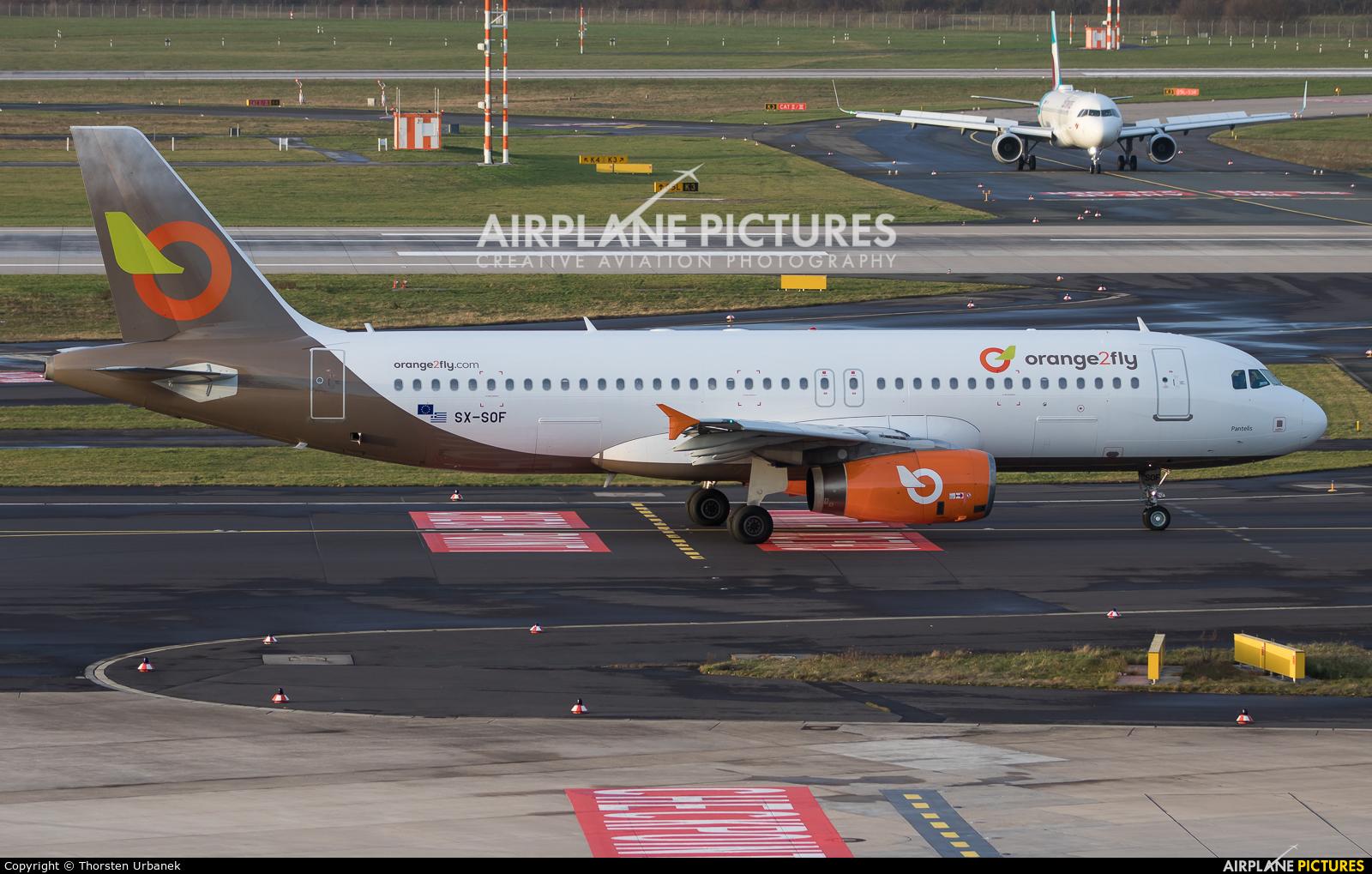 orange2fly SX-SOF aircraft at Düsseldorf