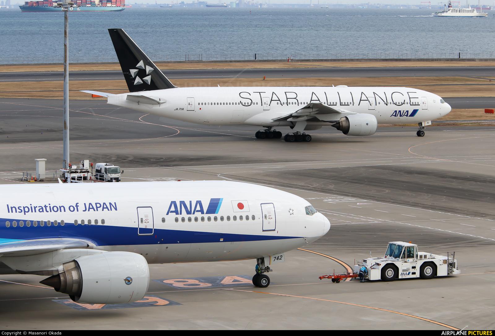 ANA - All Nippon Airways JA742A aircraft at Tokyo - Haneda Intl