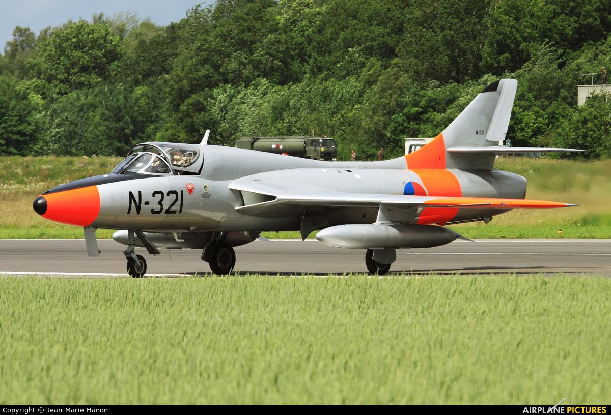 Dutch Hawker Hunter Foundation G-BWGL aircraft at Florennes