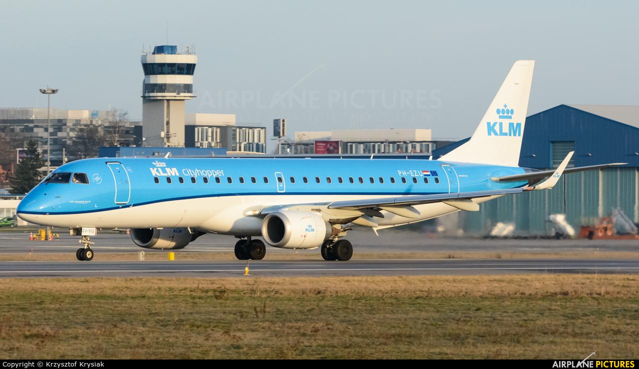 KLM Cityhopper PH-EZU aircraft at Gdańsk - Lech Wałęsa