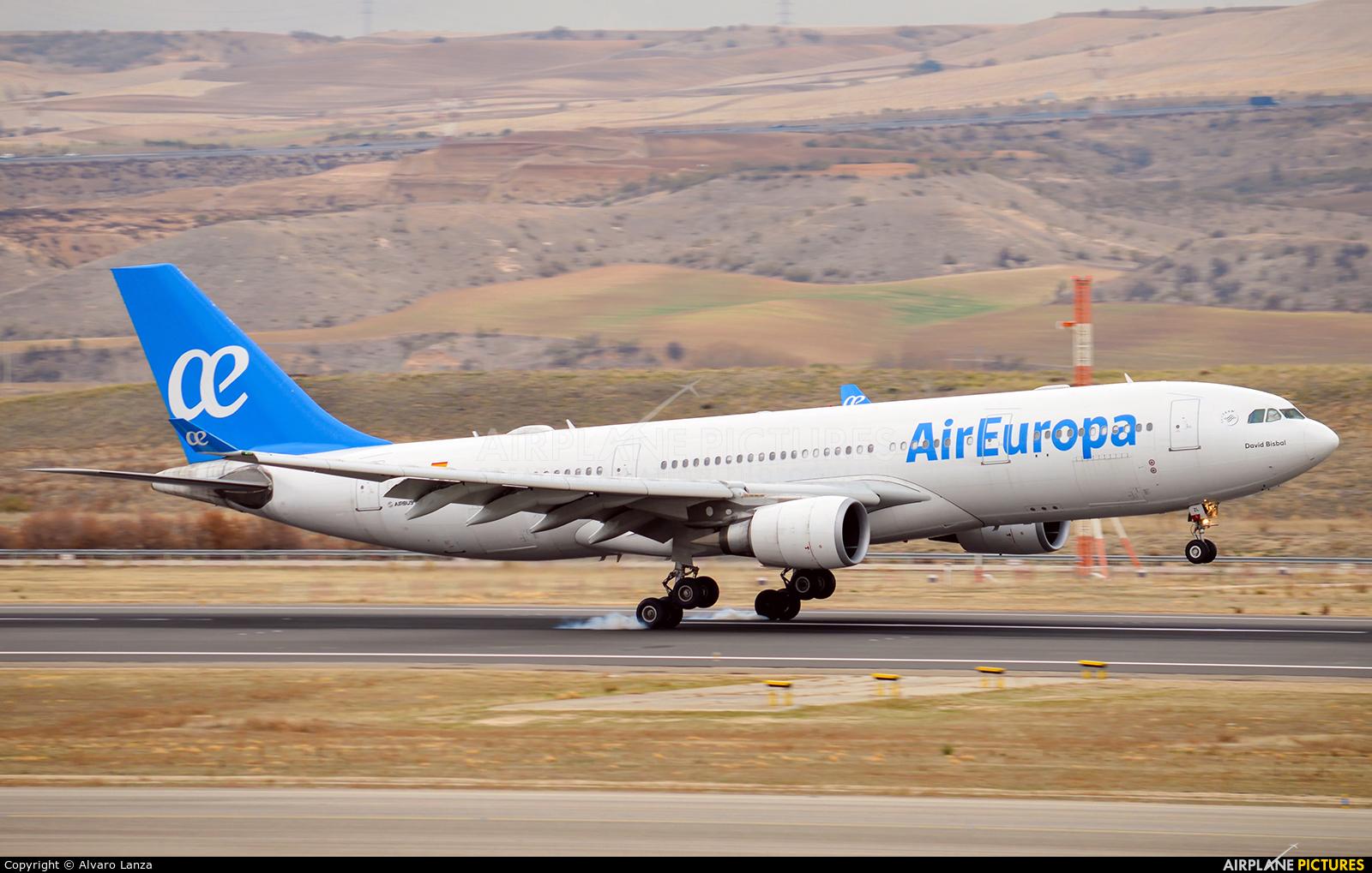 Air Europa EC-JZL aircraft at Madrid - Barajas