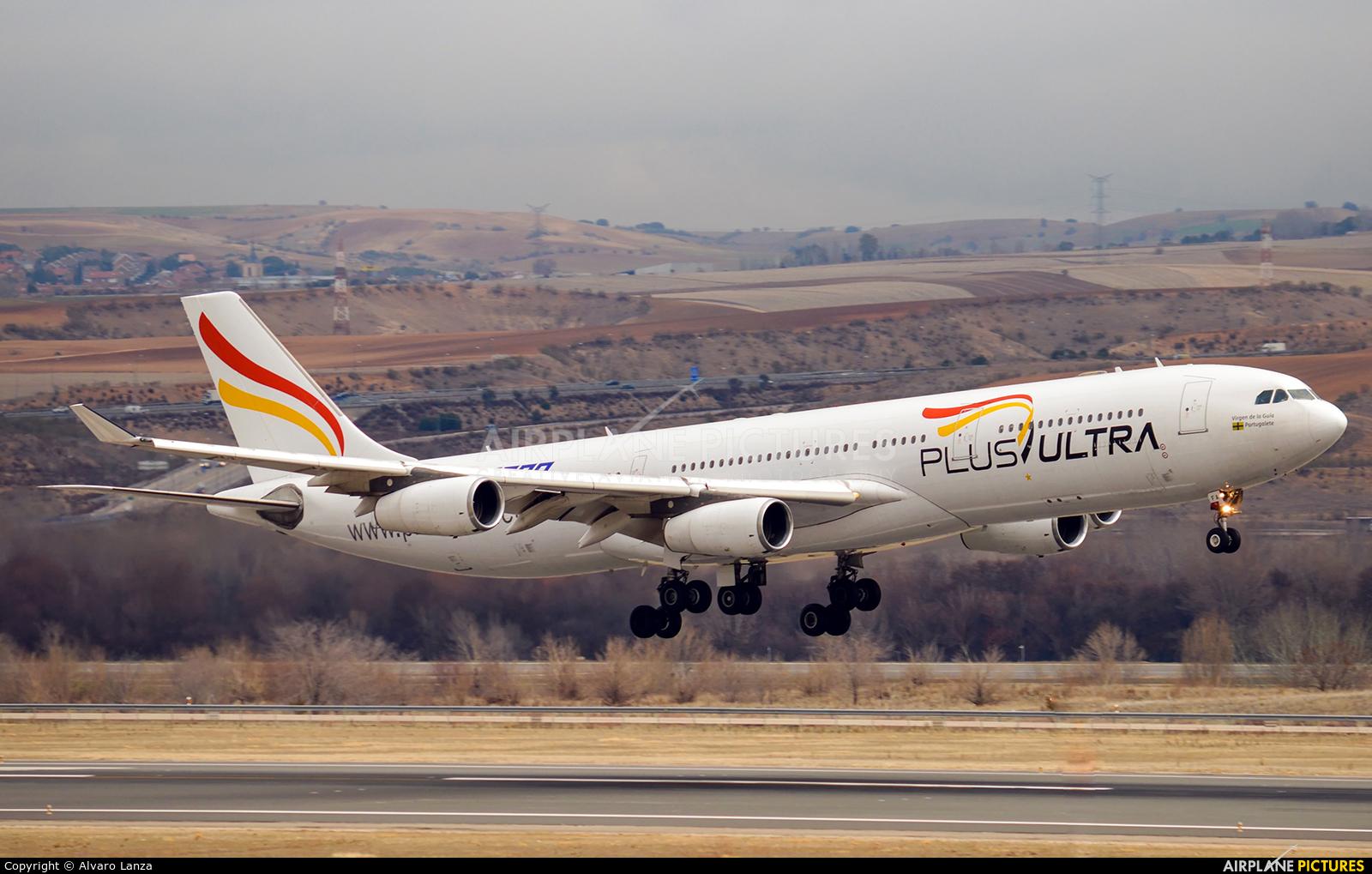 Plus Ultra EC-MFA aircraft at Madrid - Barajas