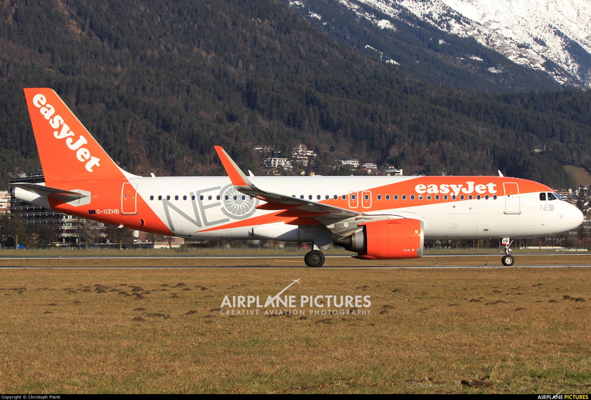 easyJet G-UZHB aircraft at Innsbruck