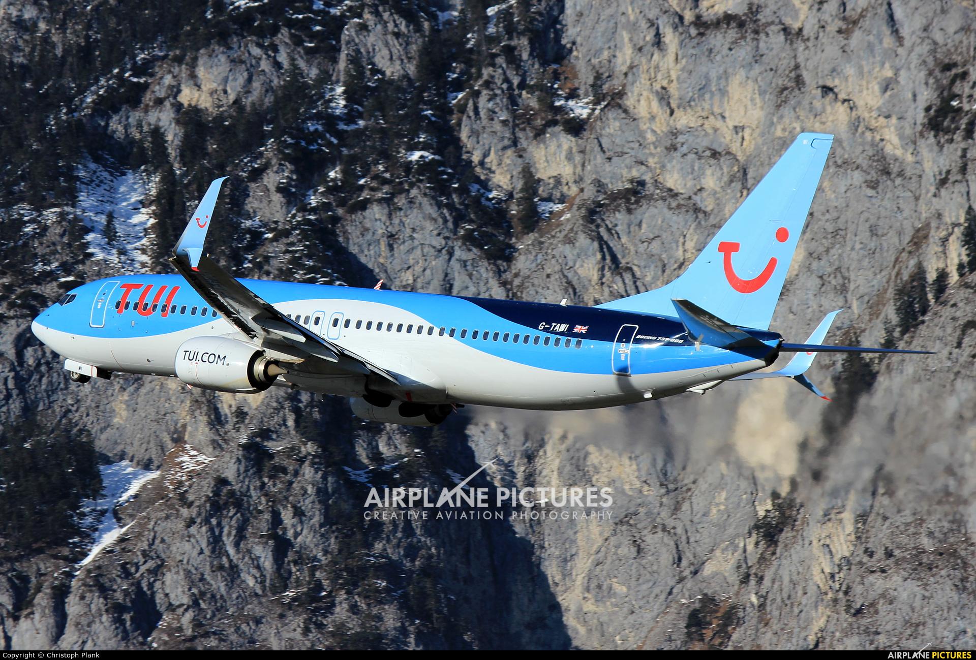 TUI Airways G-TAWI aircraft at Innsbruck