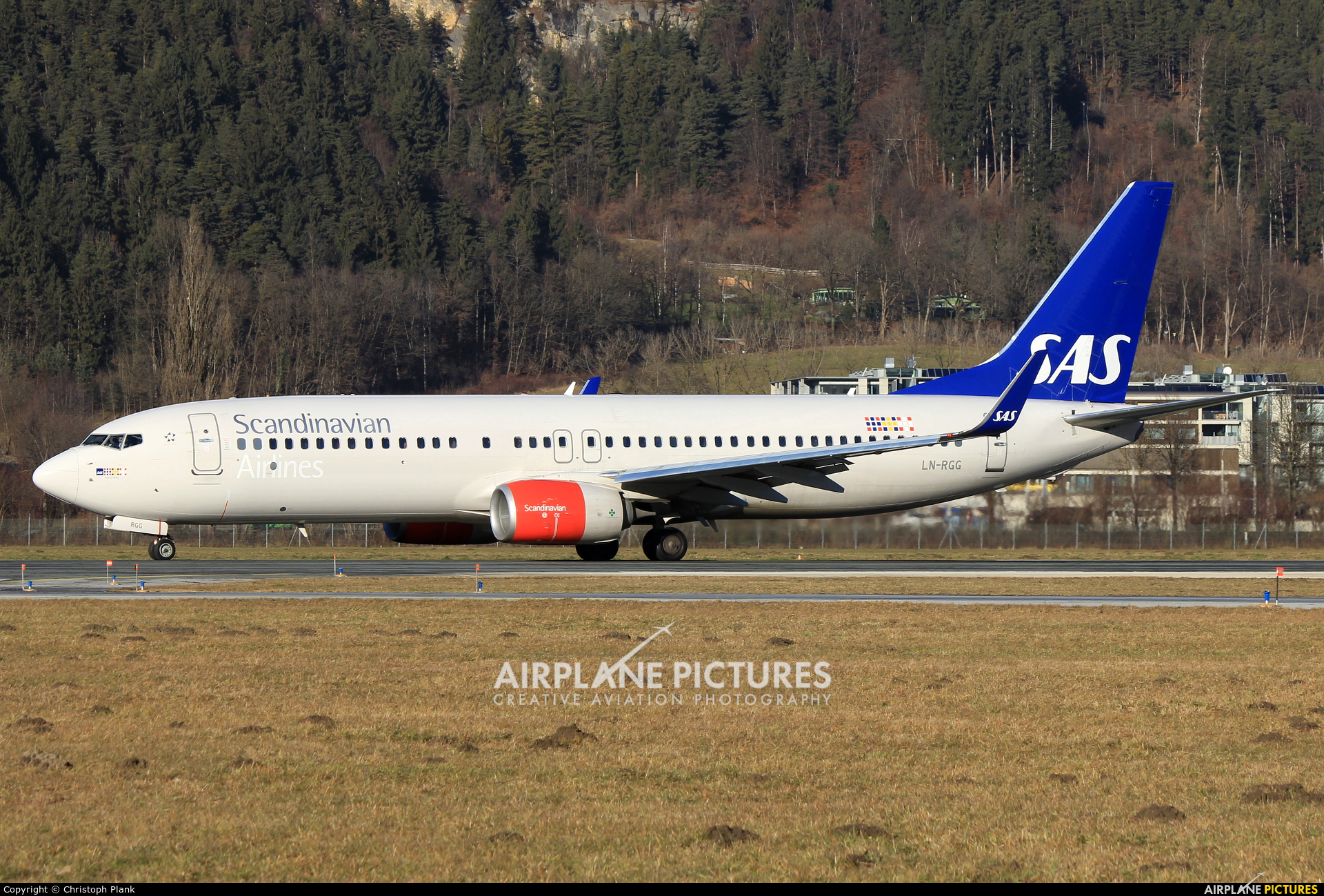 SAS - Scandinavian Airlines LN-RGG aircraft at Innsbruck