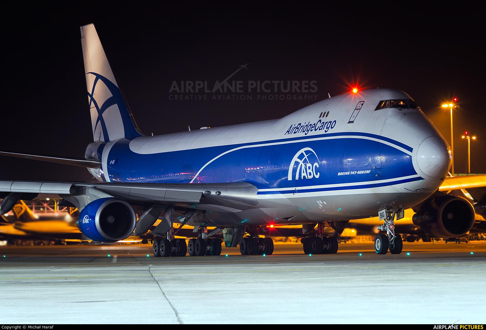 Air Bridge Cargo VP-BIG aircraft at Dublin