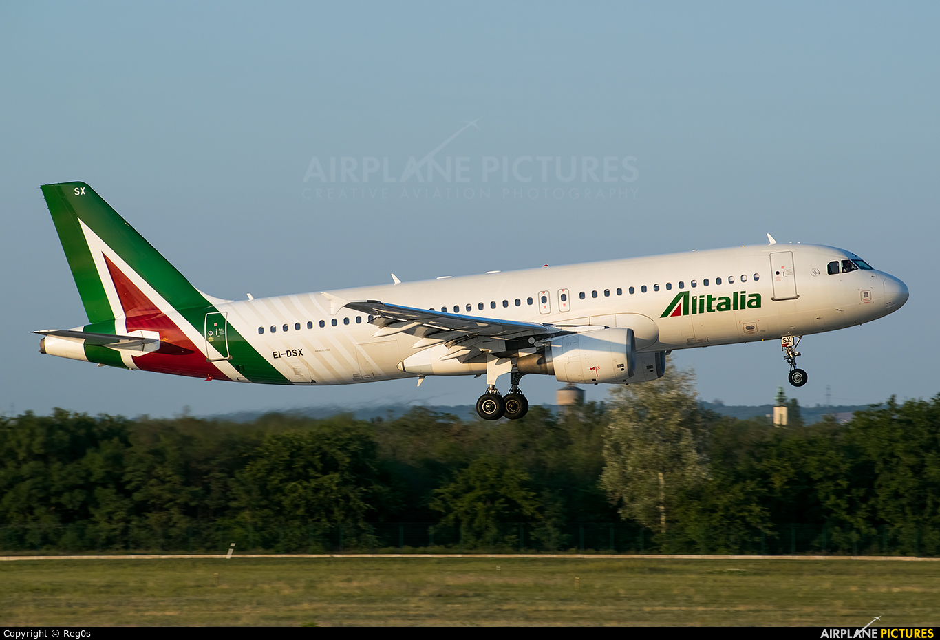 Alitalia EI-DSX aircraft at Budapest Ferenc Liszt International Airport