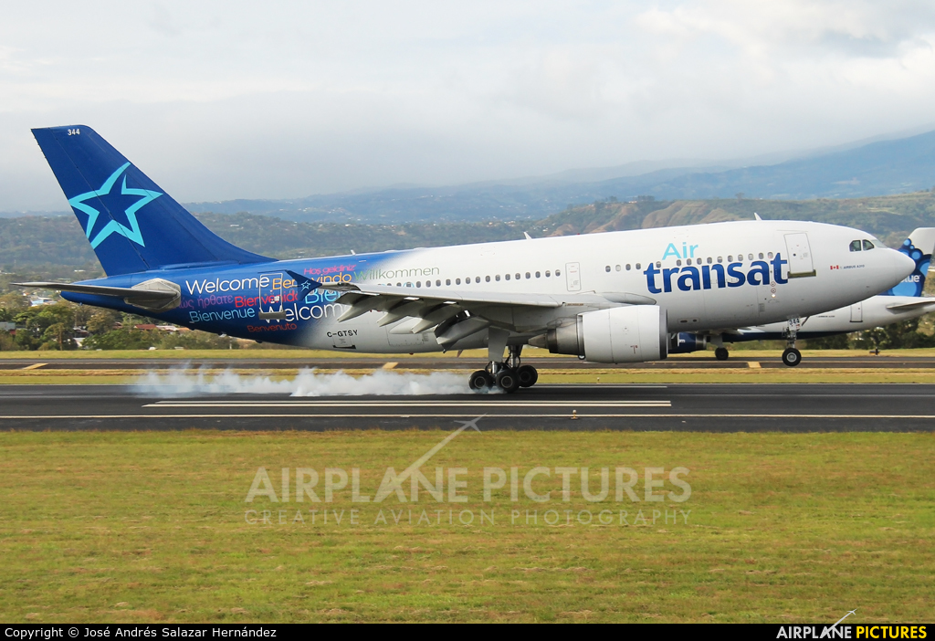 Air Transat C-GTSY aircraft at San Jose - Juan Santamaría Intl