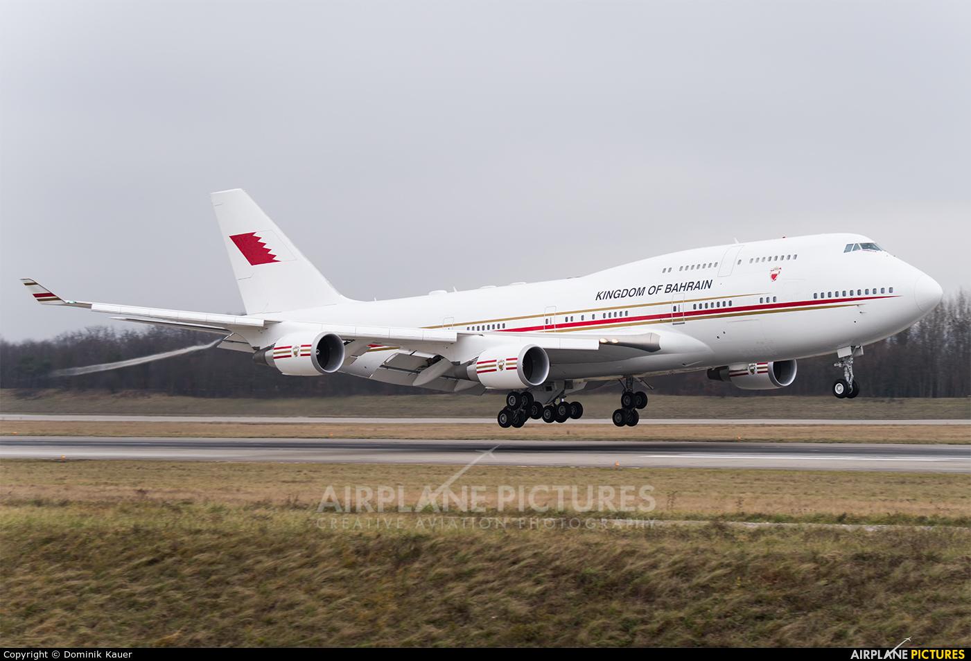 Bahrain Amiri Flight A9C-HMK aircraft at Basel - Mulhouse- Euro