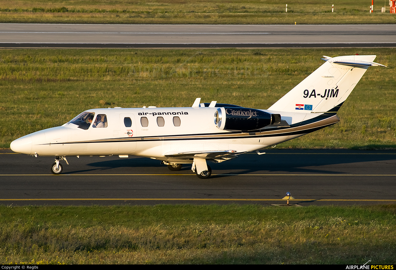 Air Pannonia 9A-JIM aircraft at Budapest Ferenc Liszt International Airport