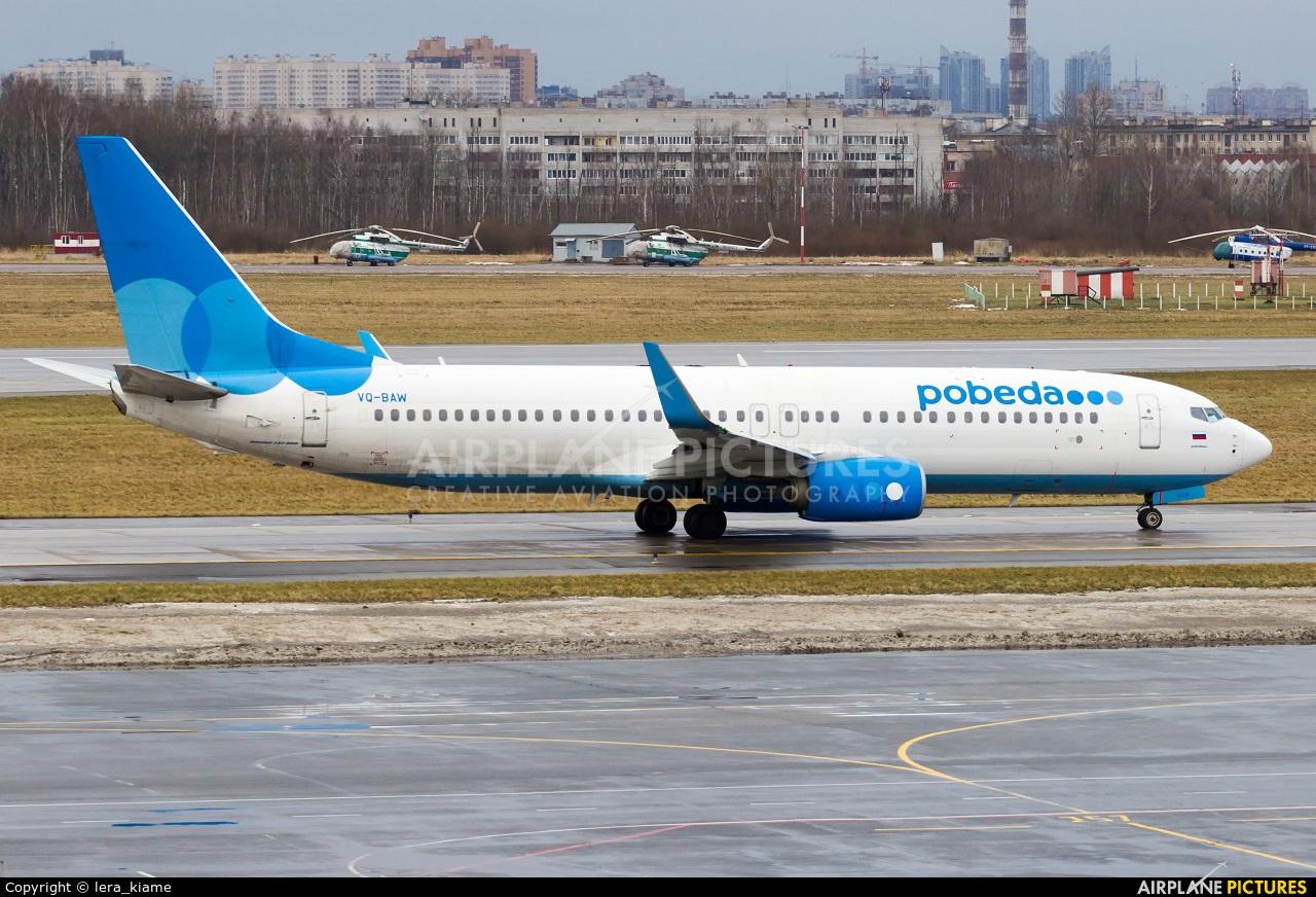 Pobeda VQ-BAW aircraft at St. Petersburg - Pulkovo