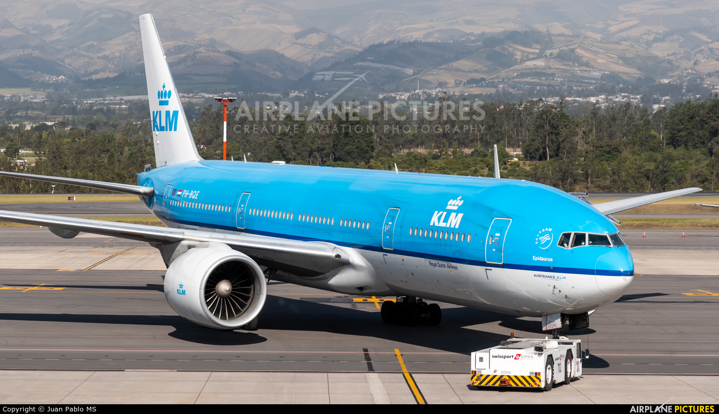 KLM PH-BQE aircraft at Quito - Mariscal Sucre