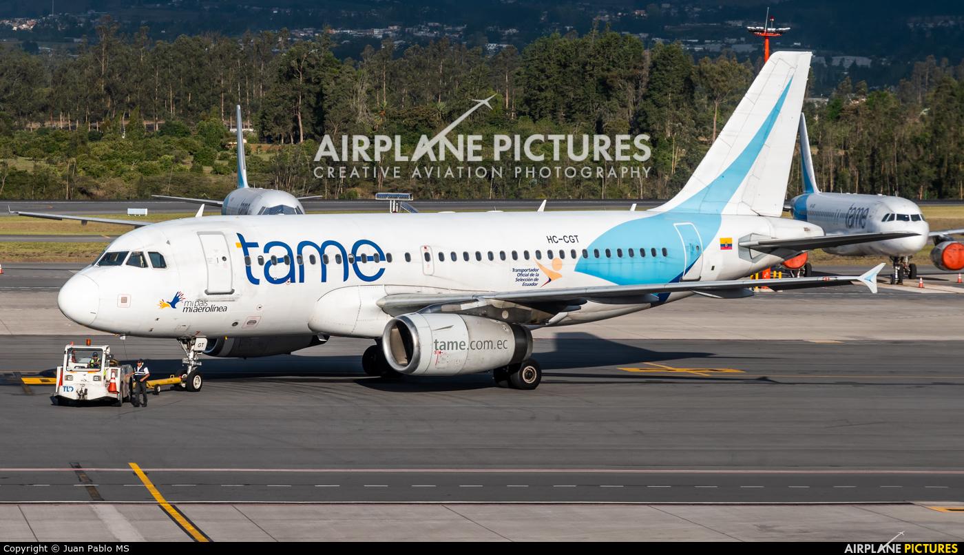 TAME HC-CGT aircraft at Quito - Mariscal Sucre