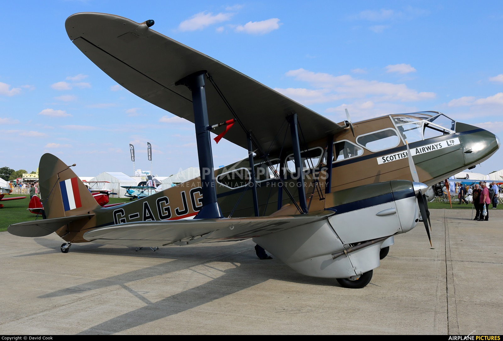 Private G-AGJG aircraft at Northampton / Sywell